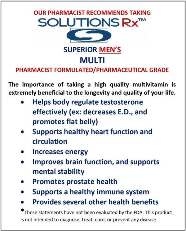 Superior Men's Multivitamin 60ct Tablets
